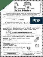 CONCEITO - SÍLABA TÔNICA