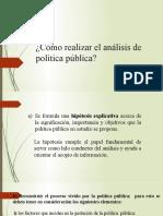 Cómo realizar el análisis de política pública