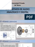 DISPOSITIVOS DE AUDIO ANALOGICO Y DIGITAL