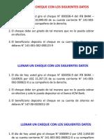 Ejercicios Cheque - Letra - Pagare