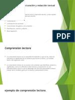 Habilidades de estructuración y redacción textual