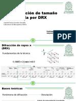 Tamaño de partícula por DRX