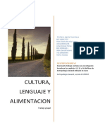 Antropologia cultural, comunicacion y alimentacion
