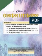 CLASE N° 11 - GÉNEROS LITERARIOS