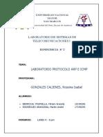 Laboratorio Protocolo ARP, ICMP Tel I 1