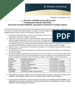 EPI Actualización medidas preventivas 20-04-2020