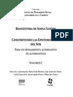 Sousa Santos, Introducción Epistemologías Del Sur