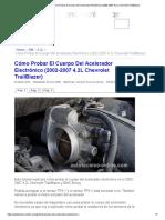 Parte 1 -Cómo Probar El Cuerpo Del Acelerador Electrónico (2002-2007 4.2L Chevrolet TrailBlazer)