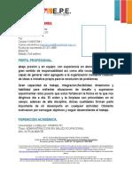 FORMATO HOJA DE VIDA PARA PRACTICAS PROFESIONALES UNIMINUTO