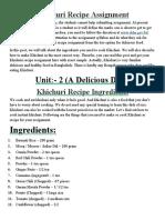 Khichuri Recipe Assignment.docx