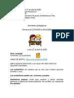 Actividades pedagogicas Semna 27-04 al 30-04