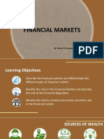 Financial Systems Financial Regulators and Instruments