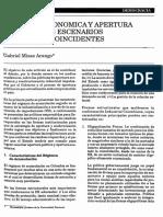 Apertura económica y apertura política