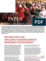 Issue Paper - Engaging Stakehoders in Bioenergy Development