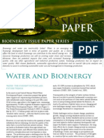 Issue paper - Water and Bioenergy