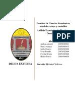 Analisis Deuda Externa Honduras