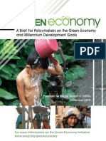 Greeneconomy-MDGs Policymakers Brief (2010)