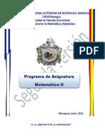 Programa de Matemática II-2013