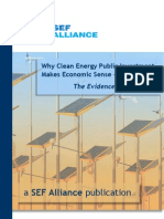 Clean Energy Public Investment makes Economic Sense (2009)