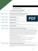 India Energy Forum 2020 by CERAWeek - Agenda