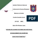 Informe Factores