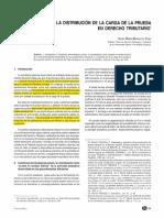 Lectura 2 - La distribucion de la carga de la prueba en Derecho Tributario.pdf