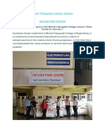 Incubation Center Details