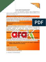 Plan de mejora ARA