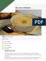 Ricetta Crema di patate con verdure - La Ricetta di GialloZafferano