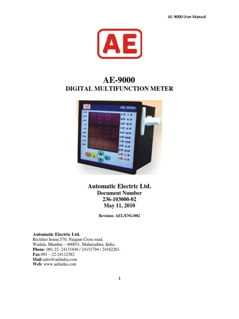 ae 9000 users manual ac power byte rh scribd com Instruction Manual Example ae 9000 bm user manual pdf