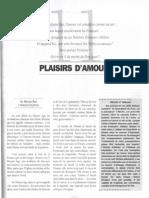 11 Plaisirs damour