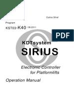 SIRIUS - Manual K40 - r1 - en