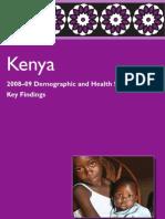 Key Findings Kenya 2008-09 DHS