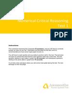 NumericalCriticalReasoningTest1-Solutions