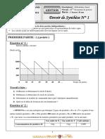 Devoir de Synthèse N°1 - Gestion  - Bac Economie & Gestion (2010-2011) Mr Benboubaker Imed