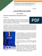 La sorpresa de China de octubre