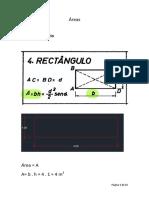 Cálculo de áreas e volumes