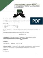 Propiedades de la Multiplicacción en Z (Números Enteros)