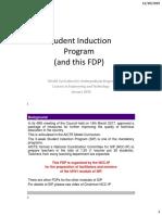 UHV 3D D1-S1A Students Induction Program Overview