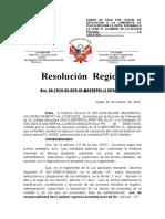 RESOLUCION BAJA DE VEHICULO