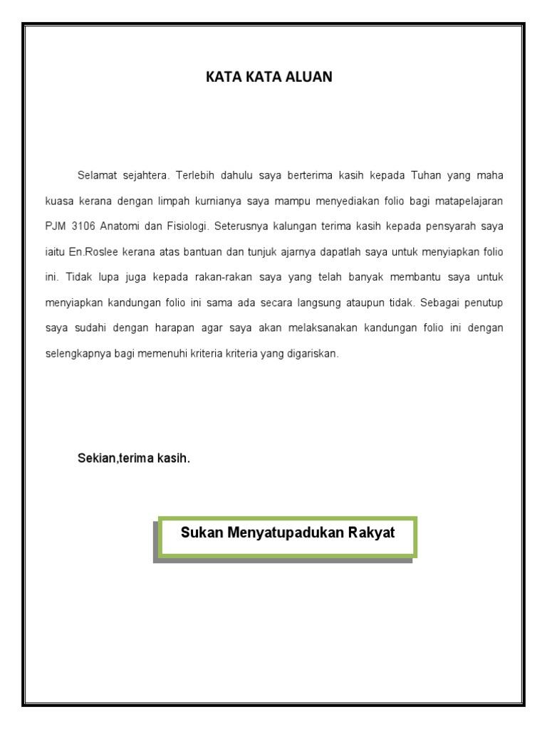 Kata Kata Aluan Rao