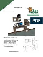INSTRUCTIVO para armar escritorio