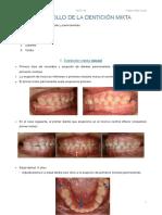 Tema 5. Desarrollo de la dentición mixta 19.10.17