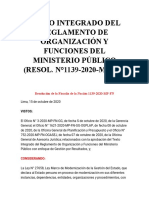 TEXTO INTEGRADO DEL REGLAMENTO DE ORGANIZACIÓN Y FUNCIONES DEL MINISTERIO PÚBLICO