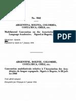 Convenio Multilateral sobre la Asociación de Academias de la Lengua Española, Bogotá, 28/07/1960