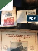 Military Rail Service 1945 Calendar