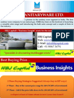 CERA Sanitary Ware LTD - HBJ Capital's (MPS Unit) - Business Insight Stock Reco for Jan'11