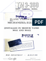 TM 3-360 - Flame Thrower Mechanized E12-7R1 (installed in Medium Tanks M4A1 and M4A3)