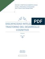 Discapacidad Intelectual y Trastorno del desarrollo cognitivo Revisado