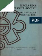 José Luis Lorenzo (Coord.) - Hacia Una Arqueología Social. Reunión en Teotihuacan (Octubre de 1975)-Instituto Nacional de Arqueología e Historia (1976) (1)